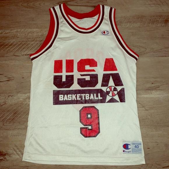 free shipping decf9 ff8a7 Vintage 90's Michael Jordan Dream Team #9 Jersey